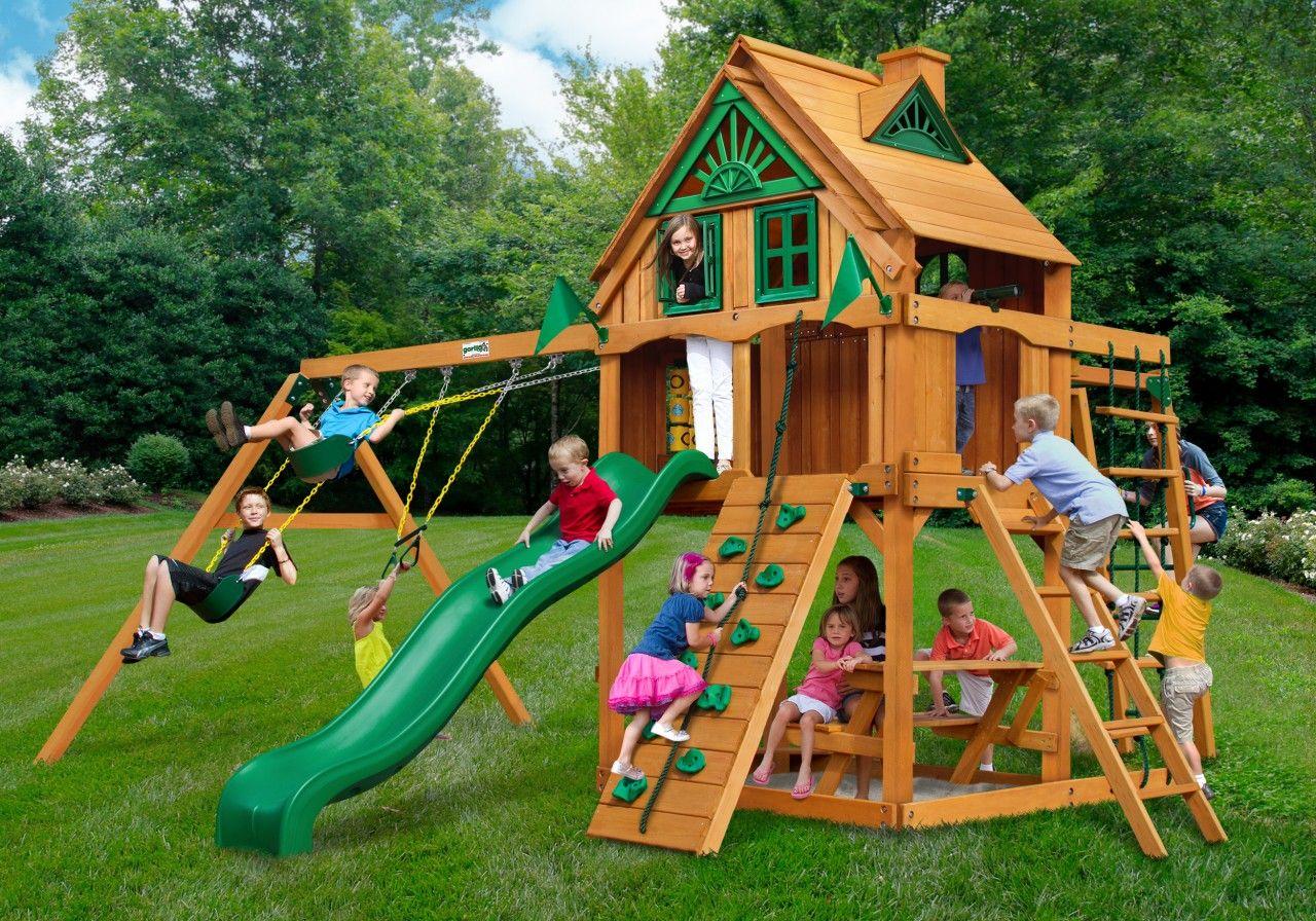 Gorilla playsets navigator treehouse fort swing set childrens