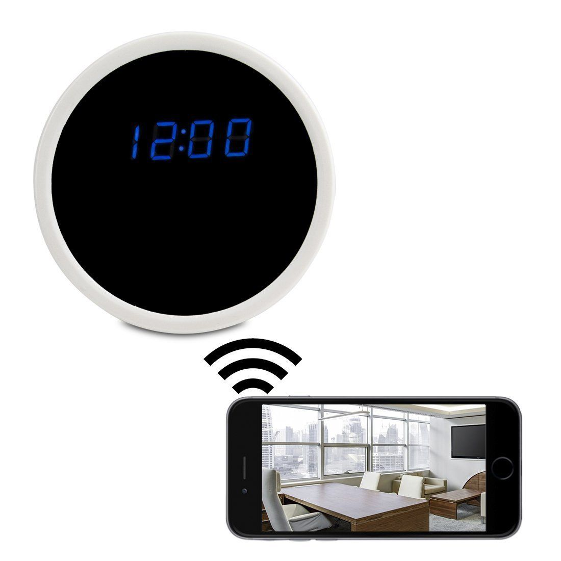 Orsda HD 1080P WiFi Mini Hidden Camera Alarm Clock 24hours Record Time Motion Activated Camcorder Video Recorder by iPhone iPad Android Phone and PC Remote