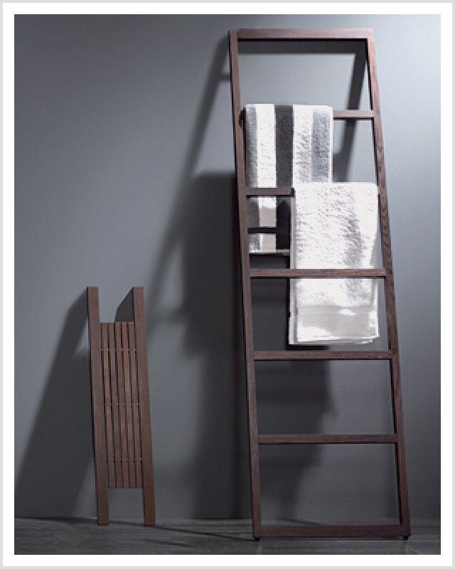 Holz Handtuchleiter Laspa Thermoholz Handtuchhalter Handtuchleiter Badezimmer Leiter Handtuchhalter
