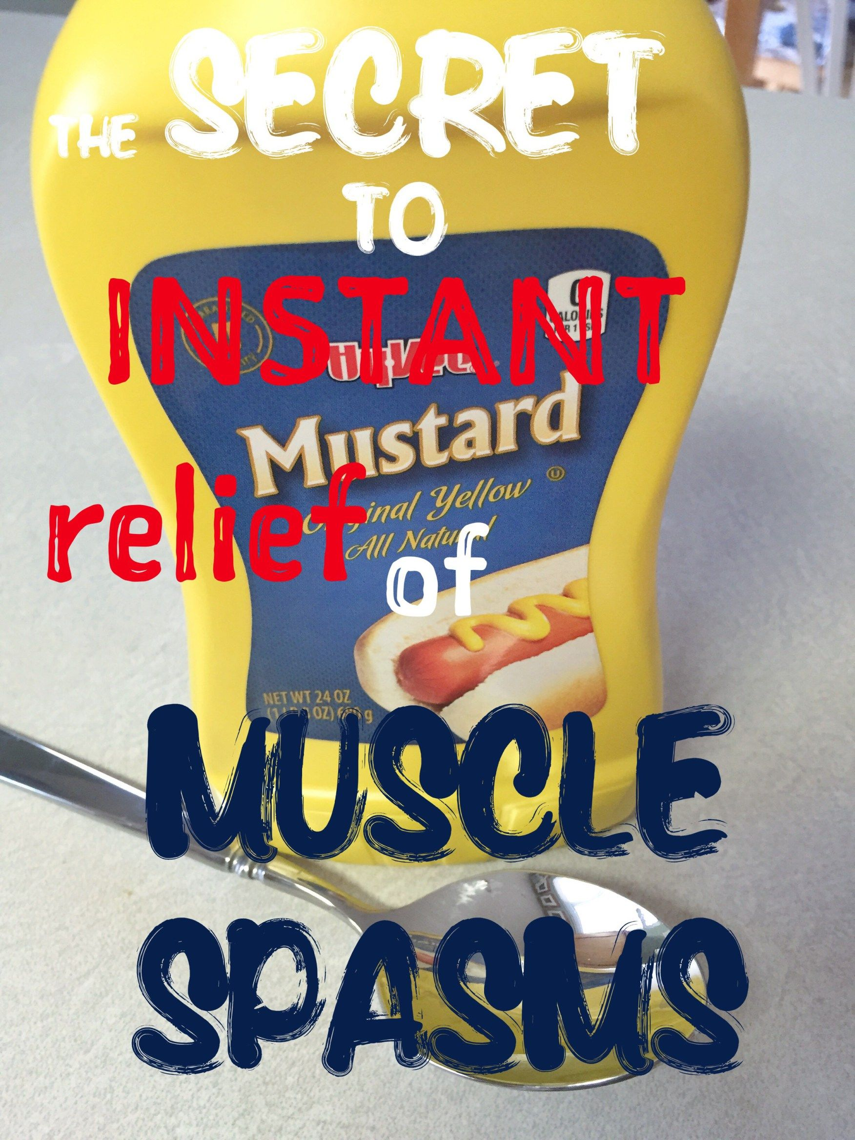 my grandfather always swore by a spoonful of regular yellow mustard