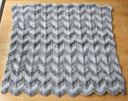 Ripple Afghan Knitting Pattern - Free Knitting Patterns | Crafts ...