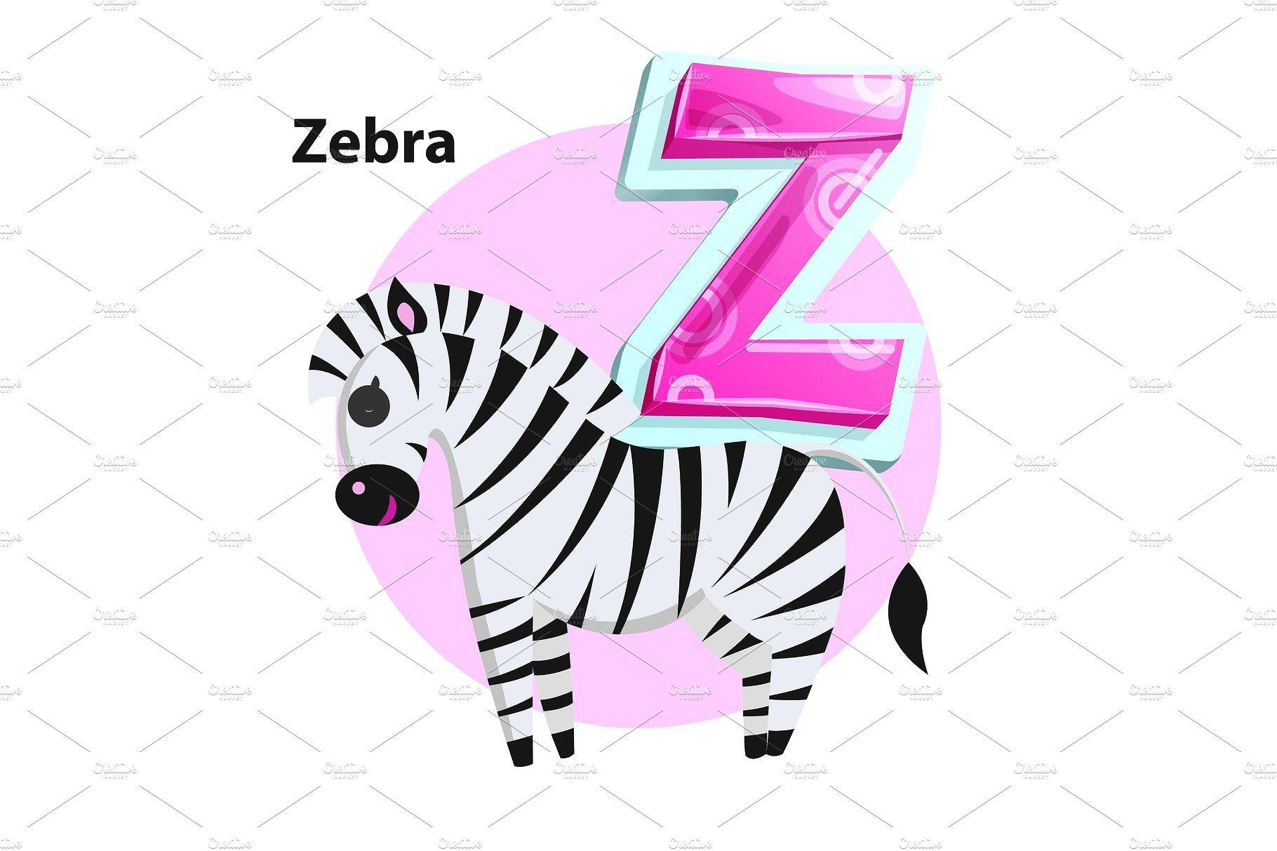 Letter Z For Zebra Cartoon Alphabet Alphabet Z Letter Abc