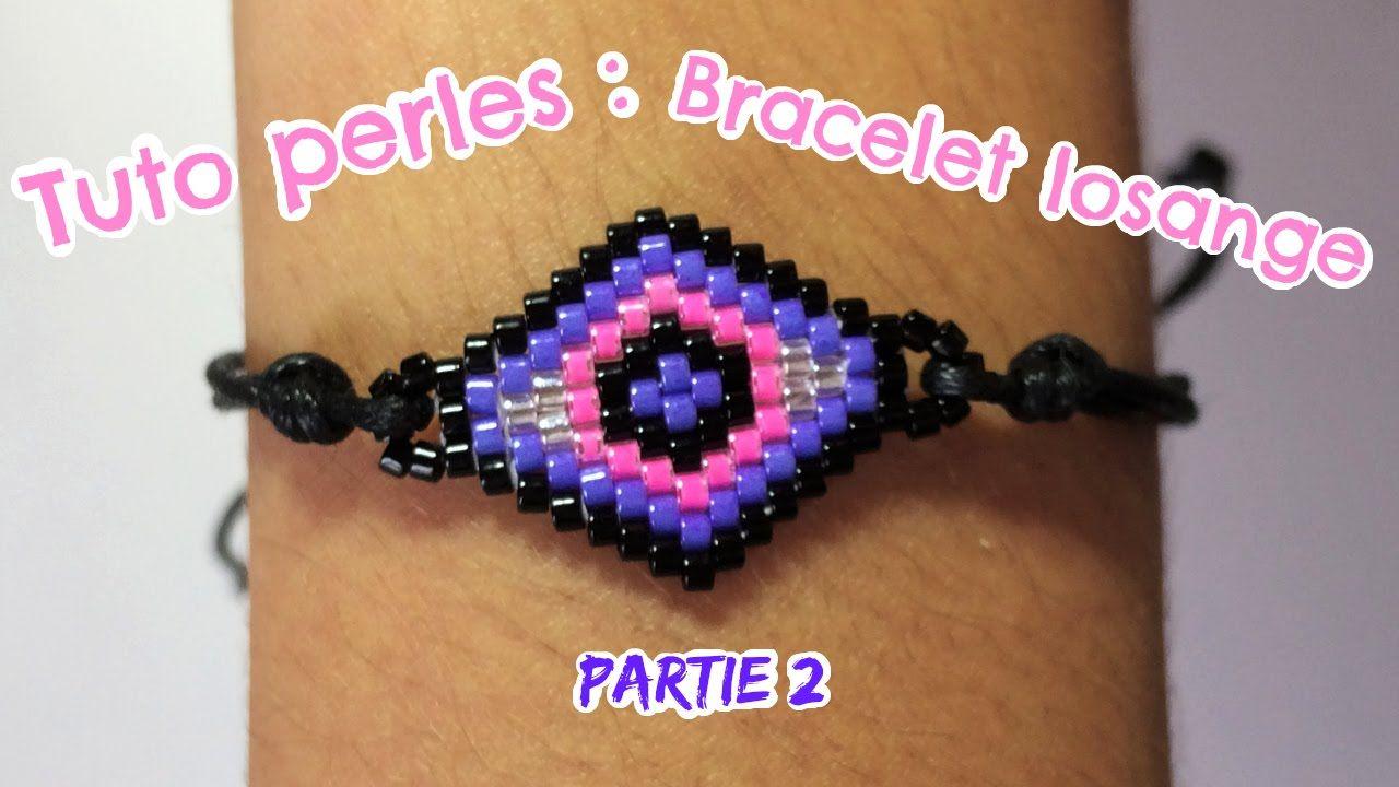 Tuto perles : Bracelet losange (Partie 2)
