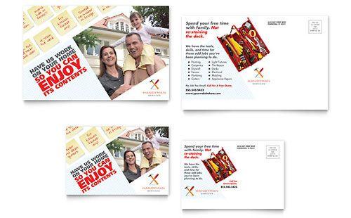 Handyman Services - Postcard Template Design Ideas Pinterest