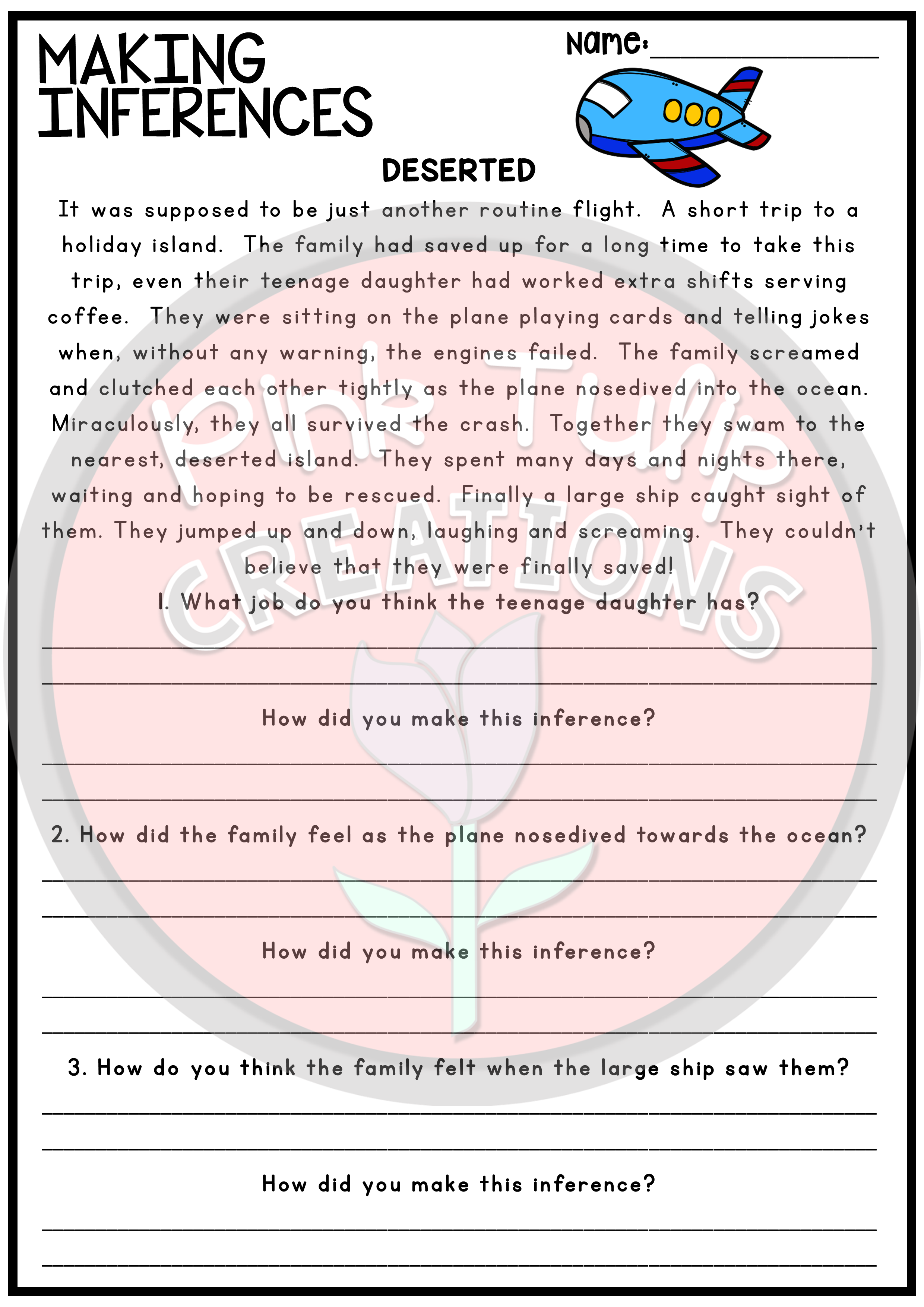 Making Inferences and Drawing Conclusions - Reading Worksheet Pack    Reading worksheets [ 3508 x 2480 Pixel ]