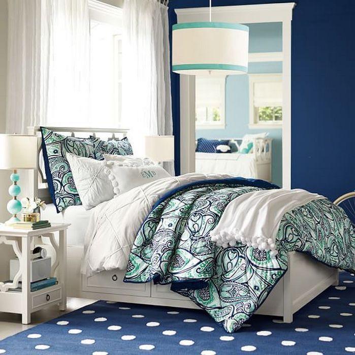 Blue bedding teen girls