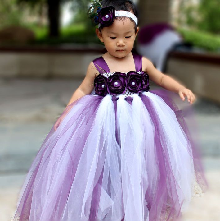 Flower Girl Dress Plum tutu dress baby por coloranglesBoutique, $59 ...