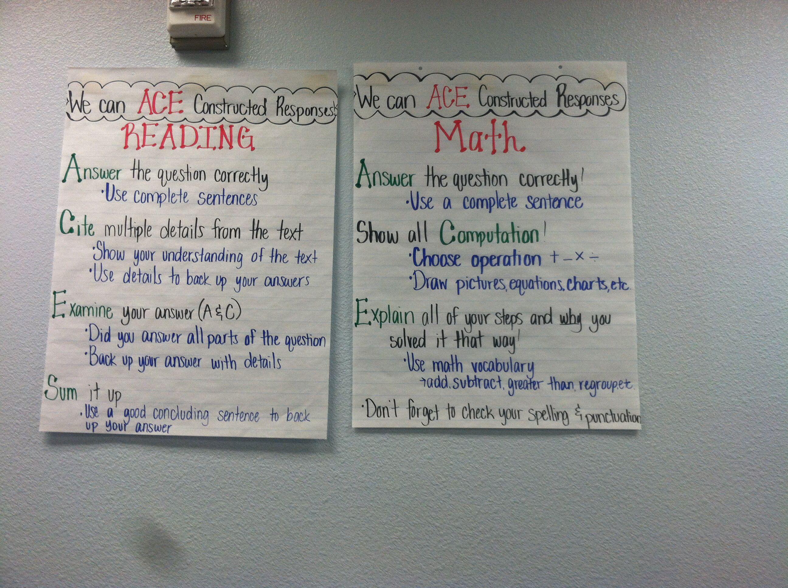 constructed response essay Go figure appendix constructed response rubrics - 105 - grading rubrics constructed-response question the following rubrics may.
