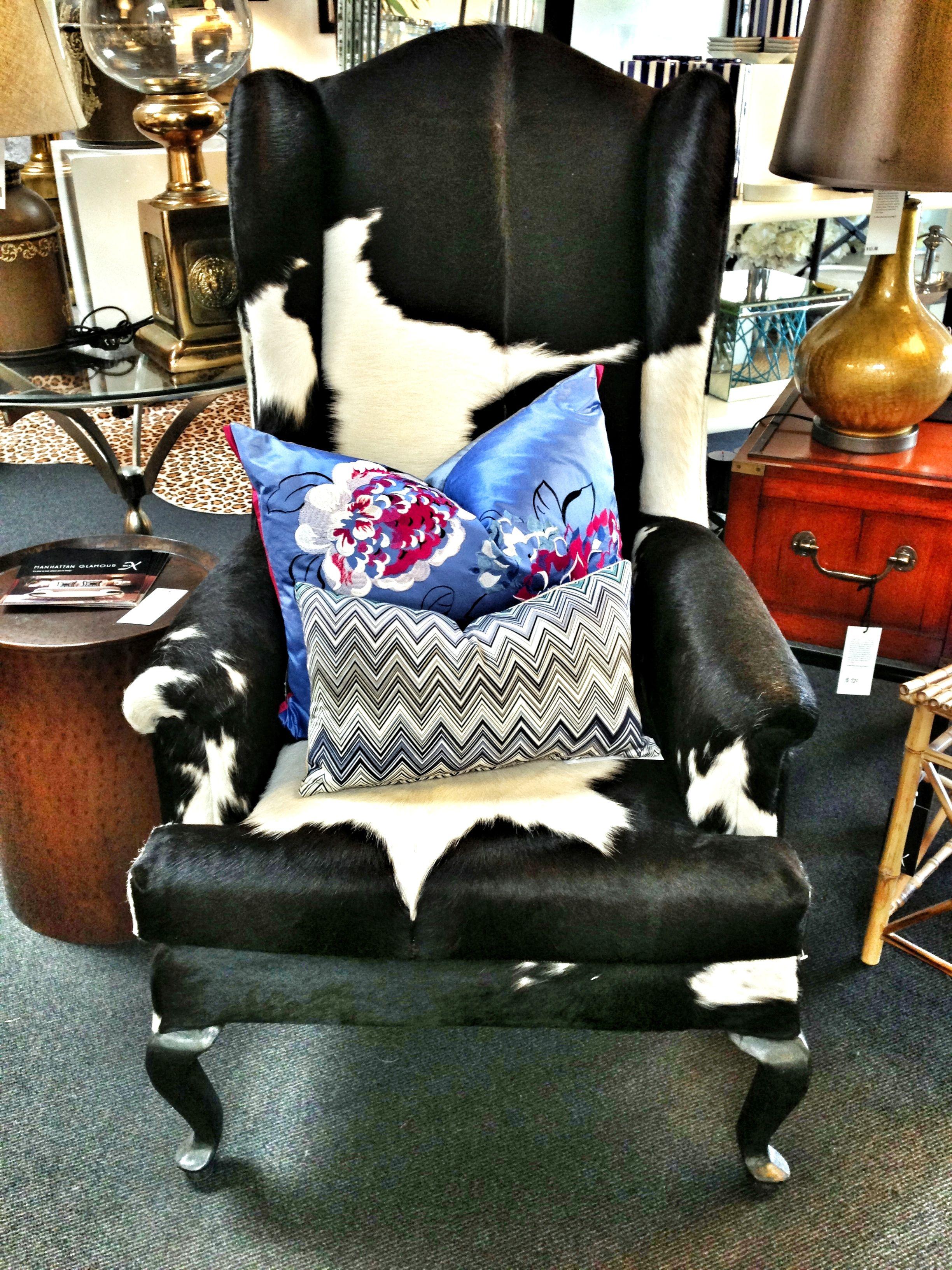 #cowhide #chair #instore at #dluxinteriors #nedlands #perth #interiordesign #interiordecor