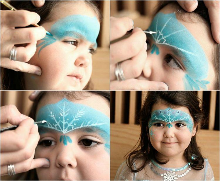 Kinderschminken Eiskonigin Ideen Karneval Make Up Fasching Carnival Elsa Schminken Kinder Schminken Kinderschminken