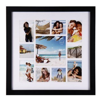 Amazon Com 11 Opening Collage Picture Photo Hanging Frame 12ad050 Adeco Home Decor Wall Art Great Gift Wooden Black Home Kitchen