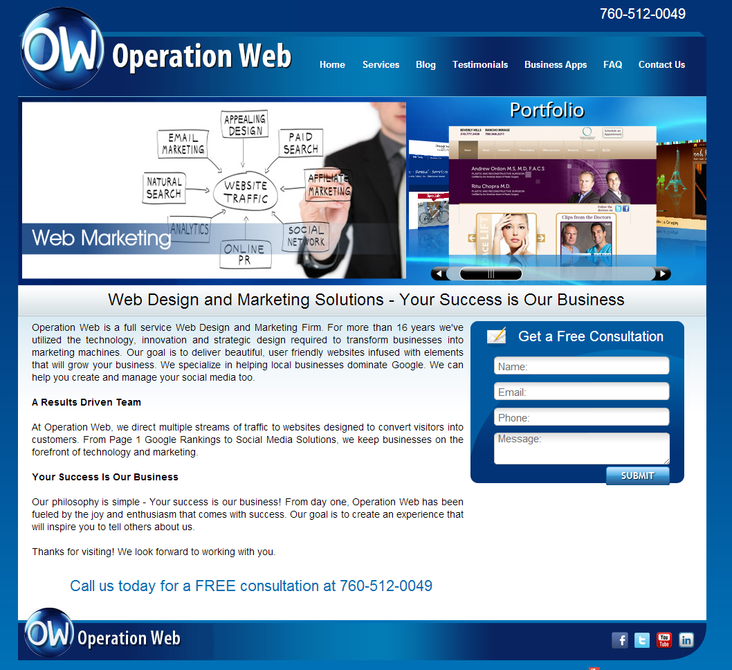 Www Operationweb Com Web Design And Marketing Solutions Your Success Is Our Business Seo Digital Marketing Marketing Solution Web Marketing