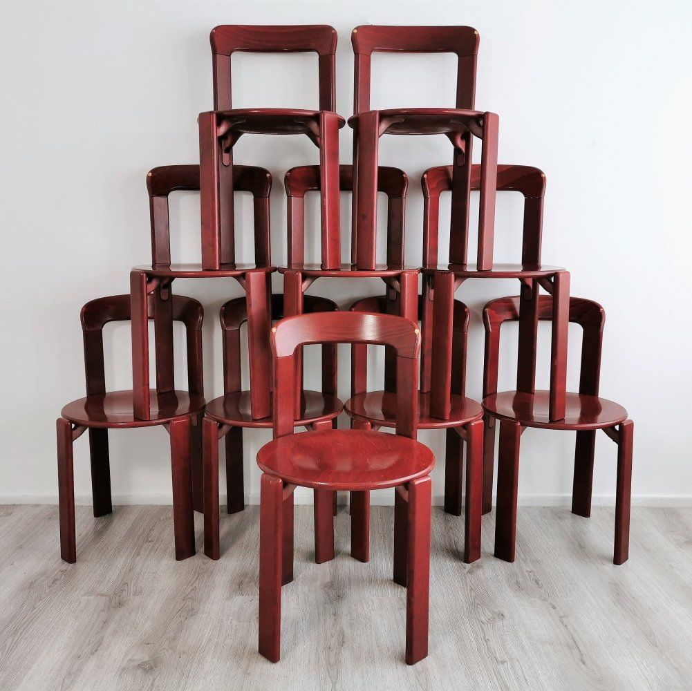 For Sale Set Of 10 Dining Chairs By Bruno Rey For Kusch Co 1970 S