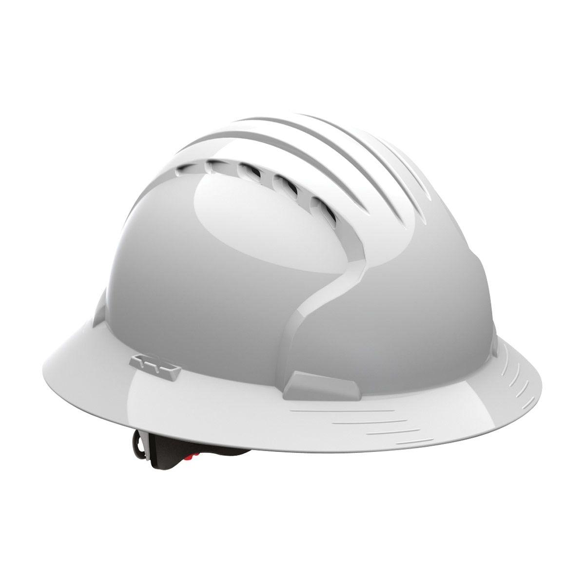 Jsp Evolution Deluxe Full Brim Vented Hard Hat Wheel Ratchet 6161v Gray In 2021 Best Hard Hat Hard Hats Hard Hat
