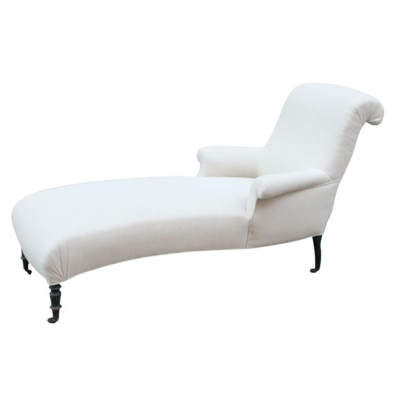 Scrolled Back Chaise Lounge White Chair Chaise Winter Ivory Via 1stdibs Chaise Lounge Chaise Living Room Lounge