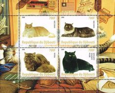 Cats on stamps Djibouti