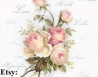 Paquet Fleurs Roses Beaut/é Conception Du Papier Tissu Serviettes Papier Serviettes Decoupage D/écoration Cafe /& Party Arts De La Table 20pcs