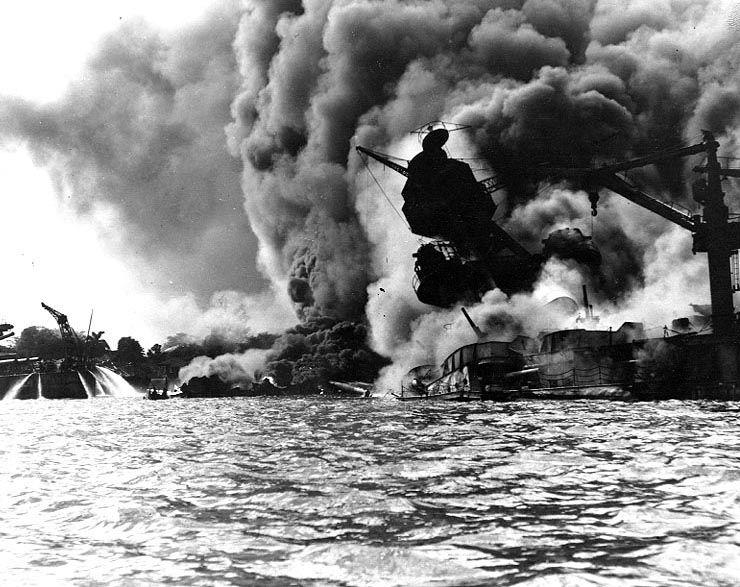 Photo Uss Arizona Burning At Pearl Harbor 7 Dec 1941 Photo 1 Of