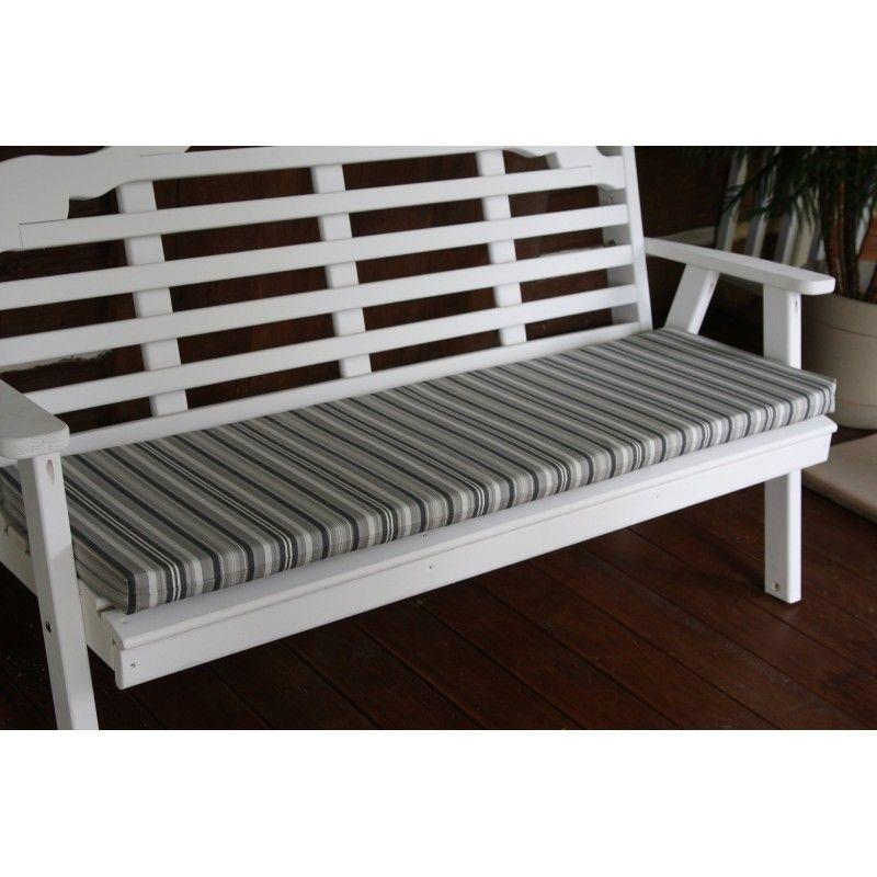 5ft Bench Cushion Grey Garden Bench Cushions Bench Cushions Outdoor Chaise Lounge Cushions