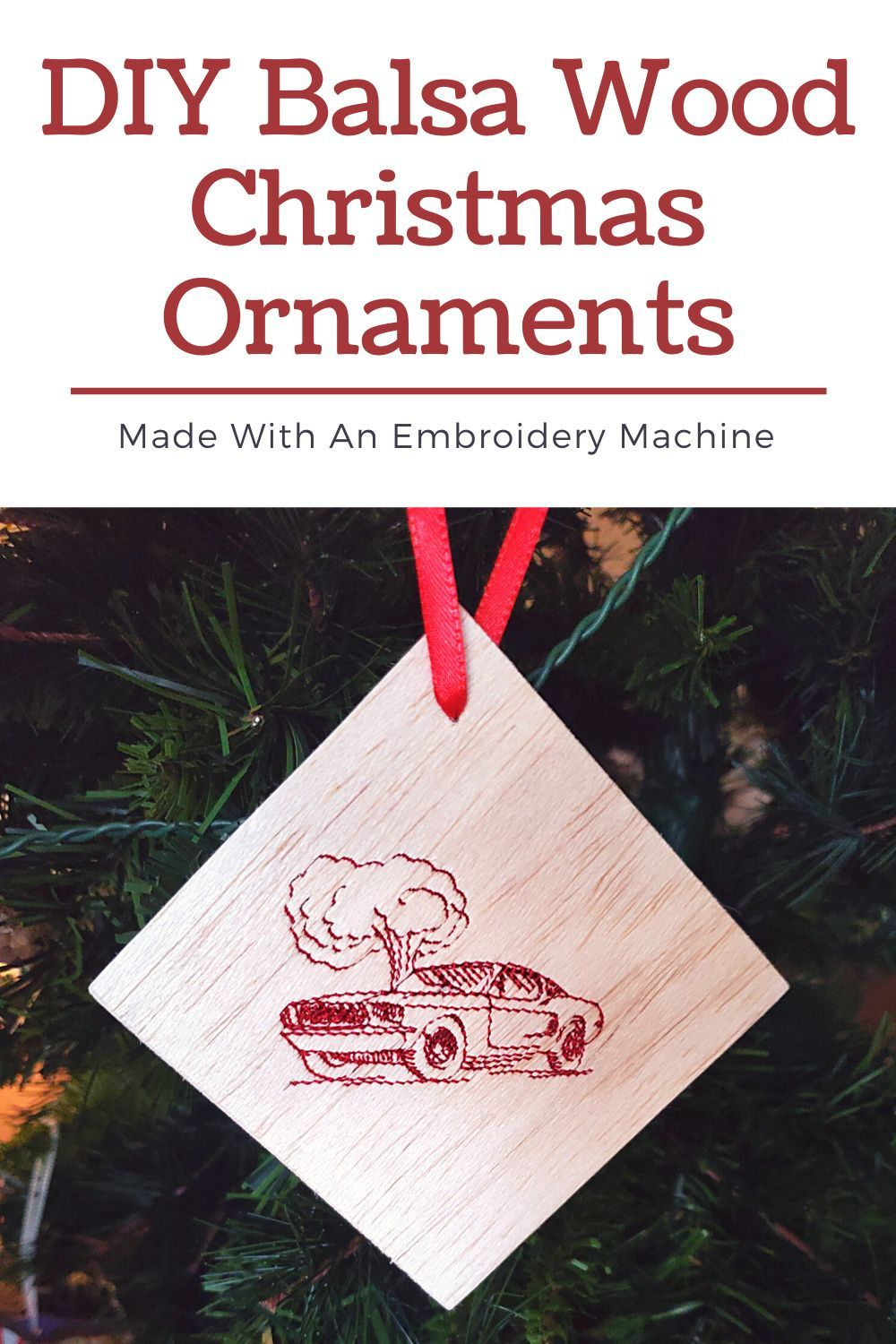 Diy Balsa Wood Embroidered Christmas Ornament In 2020 Embroidered Christmas Ornaments Christmas Sewing Projects Machine Embroidery Tutorials