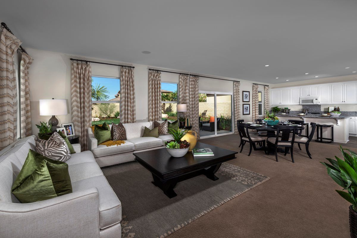 Canyon heights interior design living room kb homes
