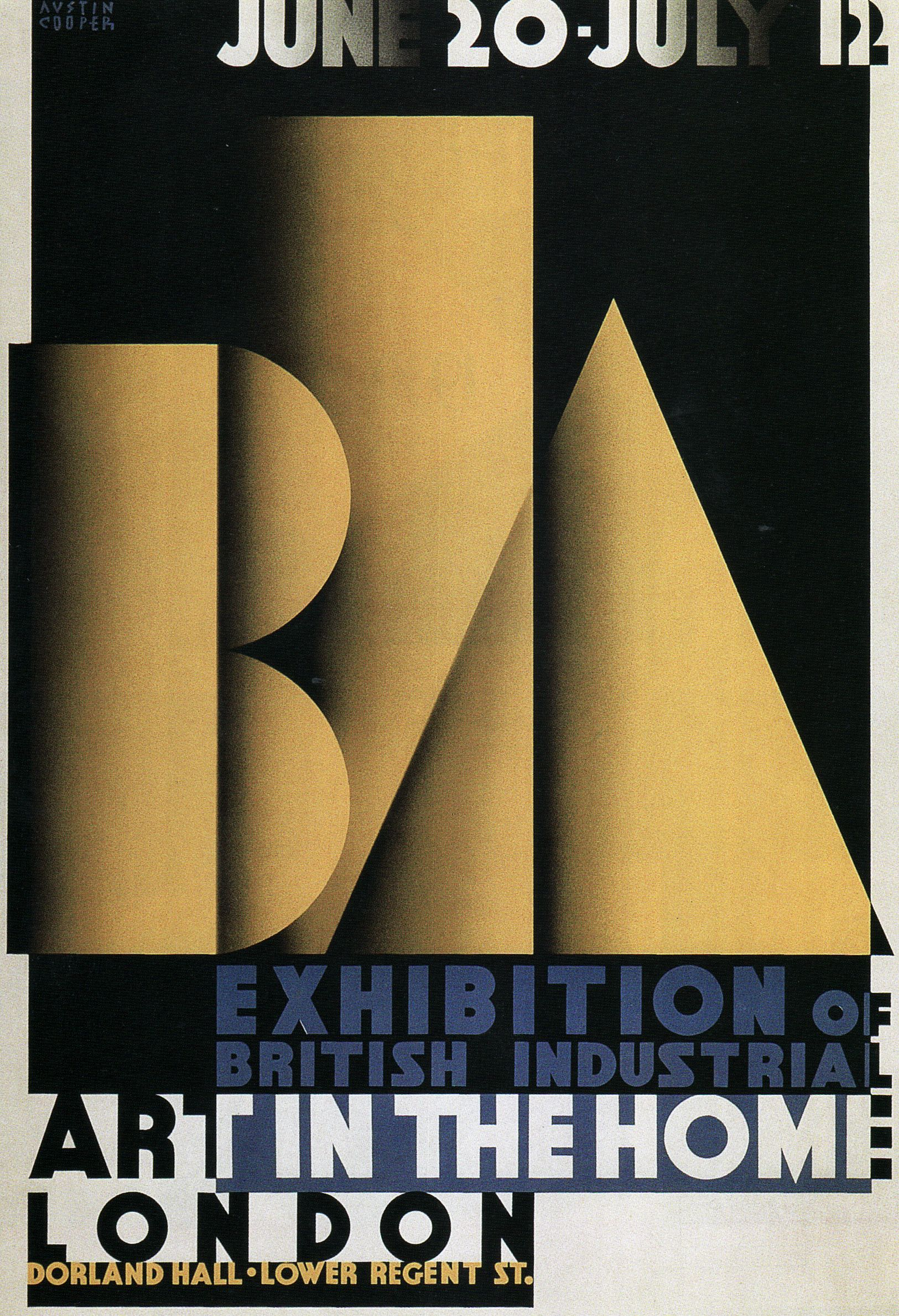 Poster design 1920s - Ideal Home Exhibition 1920s