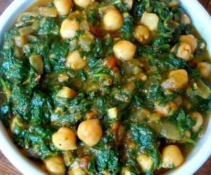 Spinach With Garbanzo Beans Recipe Portuguese Recipes Bean