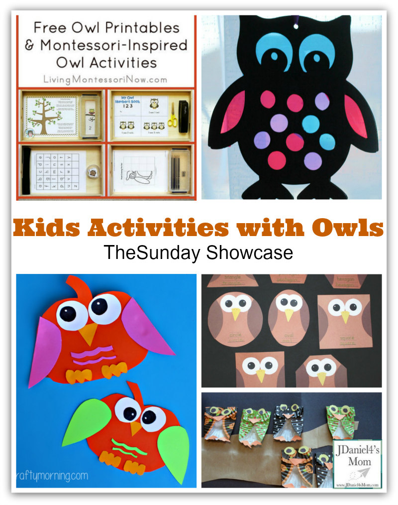 Kids Activities with Owls via JDaniel4's Mom