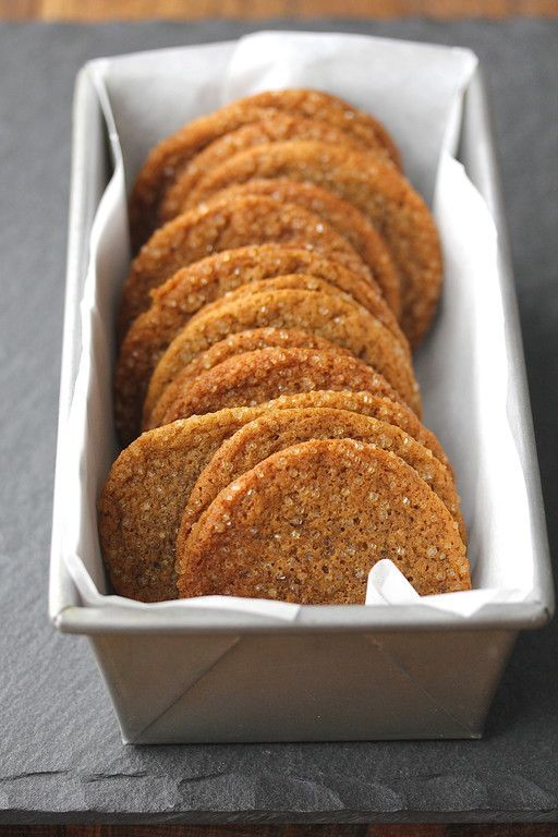 Molasses Ginger Cookies with Fresh Ginger, Vietnamese Cinnamon, and Sparkling Sugar