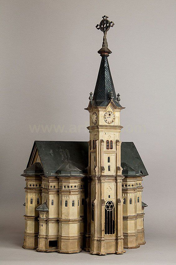 very rare antique hamster cage in the shape of a Bavarian baroque church 1868... Poor thing, how could it see out!