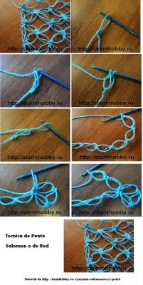 beautiful net stitches...here's the tutorial