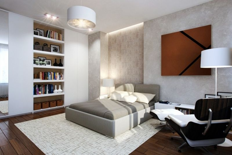 Gästezimmer Platzsparend Einrichten   Doppelbett Und Kleiderschrank
