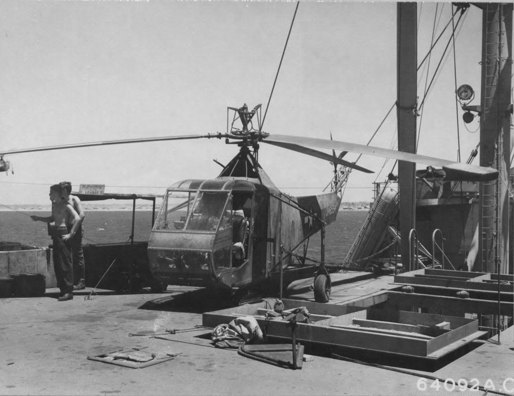Luzon Island, Philippine Islands. 1945. Sikorsky R-4B SN 43-46554