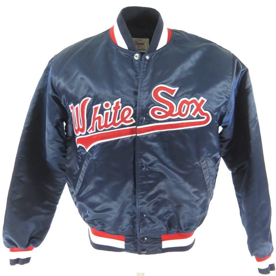 Vintage 80s Chicago White Sox Starter Satin Jacket Mens L Mlb Baseball Diamond The Clothing Vault Vintage Sports Clothing White Sock Satin Jackets [ 960 x 960 Pixel ]