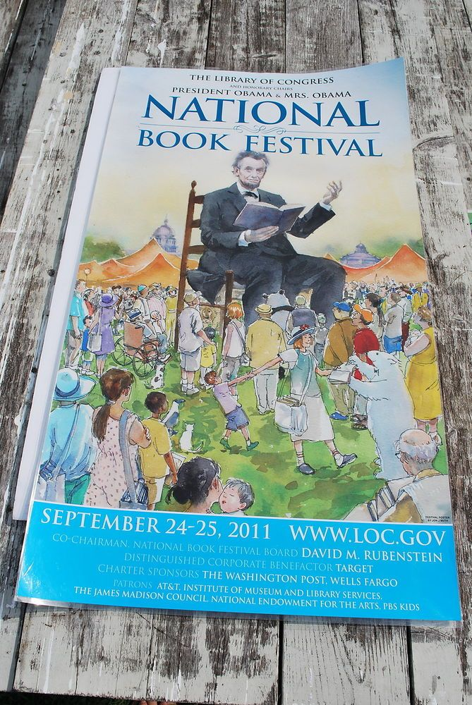 33 1/2 X 19 inches Library of Congress National Book Festival 2011 Jon J Muth