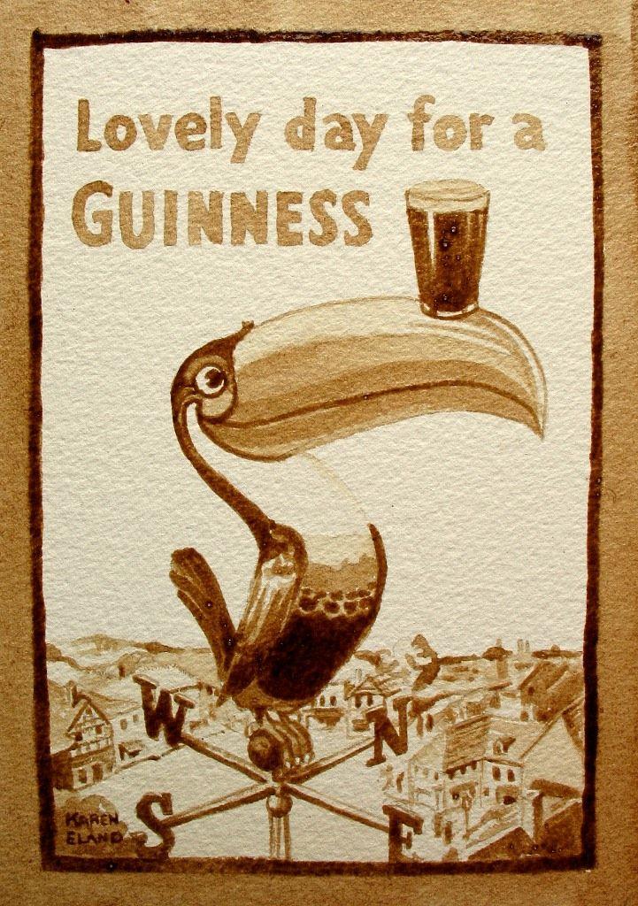 beer painting by Karen Eland