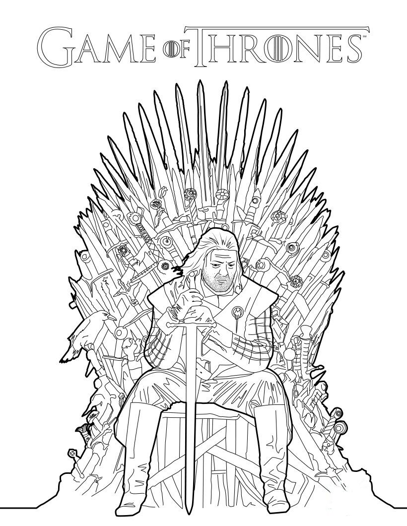 George RR Martin to Release Game of Thrones Coloring Book Game