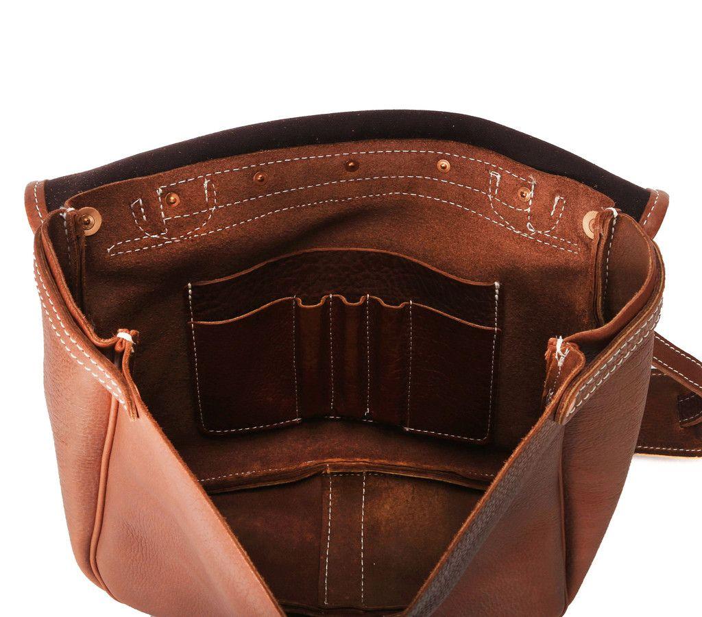 Yuketen - Leather Mailman Bag (Vintage Peanut)  f093a18f0384e