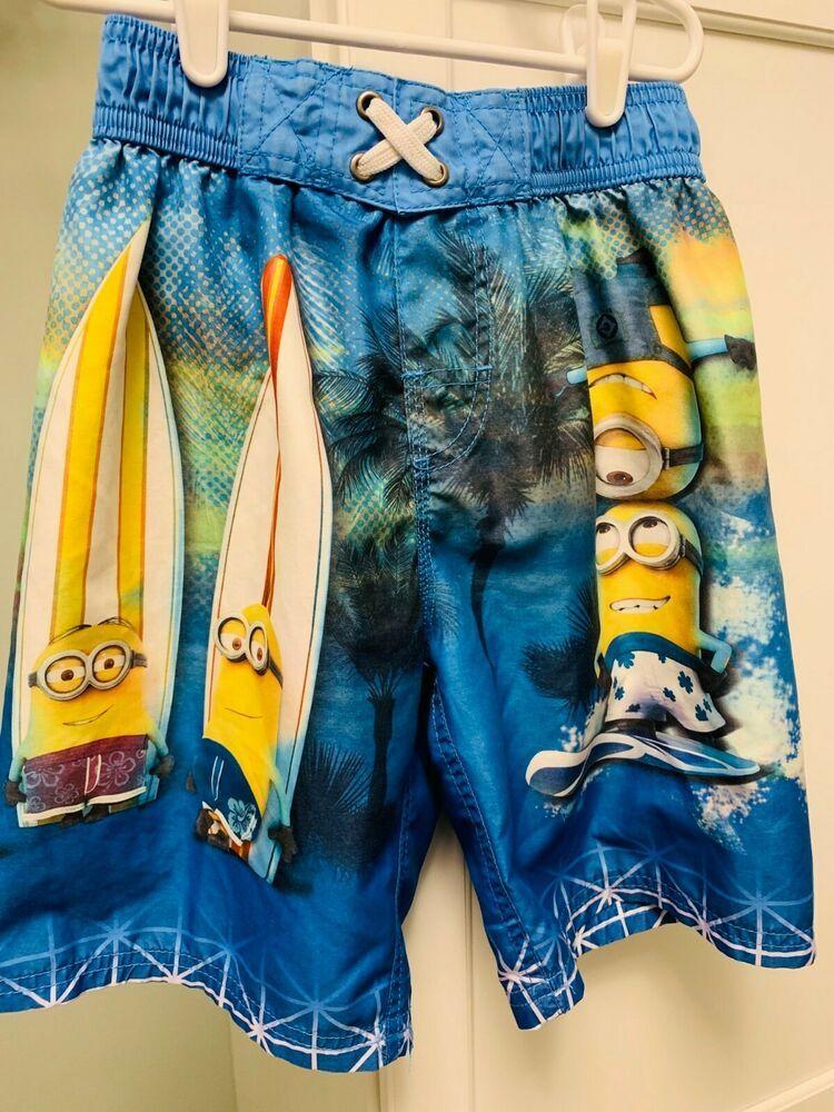 427c532454 Boys Swim Trunks Despicable Me Minion Made Boys Board Shorts Medium M Med 8  Mesh #