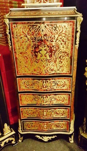 secr taire en marqueterie boulle d 39 poque napol on iii mobilier style napol on iii second. Black Bedroom Furniture Sets. Home Design Ideas