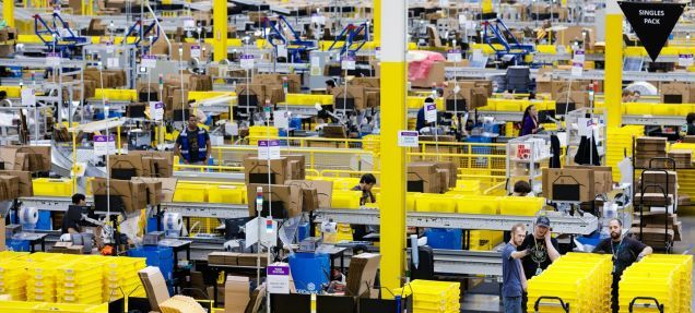 Report Amazon Uses Games To Keep Warehouse Workers Engaged