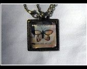 $8.00 Butterfly Antique Bronze Necklace