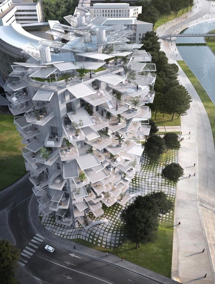 建築家sou Fujimoto氏が手掛けるフランス モンペリエに建築予定の多目的タワー L Arbre Blanc が海外メディアで話題に ロサンゼルス発 ジャパラマガジン モンペリエ 珍しい建物 建物