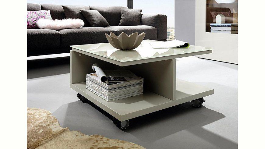 now! by hülsta Couchtisch »CT 18« mit Rollen und Glasplatte Jetzt - hülsta möbel wohnzimmer