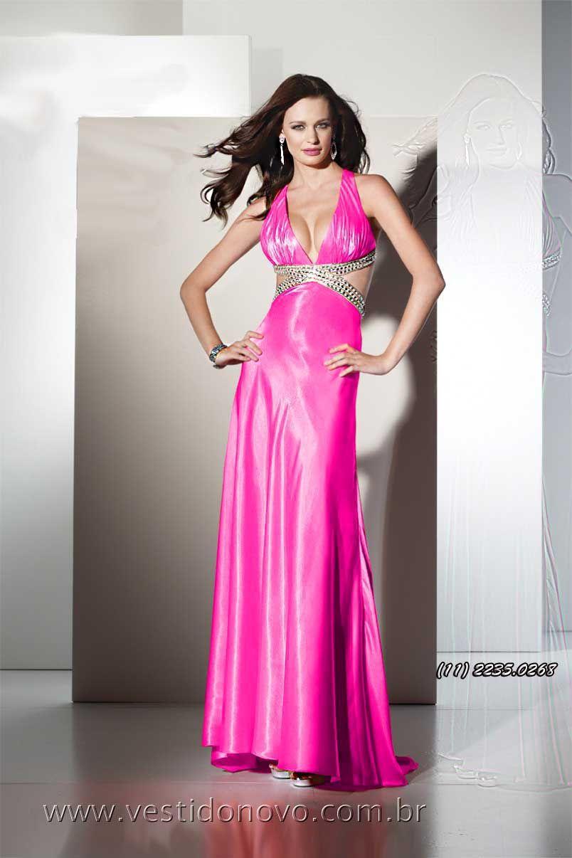 vestido de formatura decotado costa cavada importado em pink loja em ...