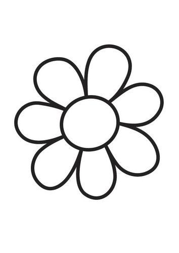 Kleurplaat bloem - simple flower | lente | Pinterest | Lentes, Maya ...