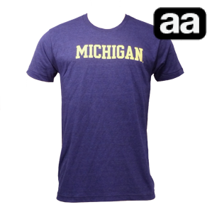 My favorite Michigan shirt. AA Triblend Cotton super worn-in feeling. Just burned a massive hole through it thanks to a candle.