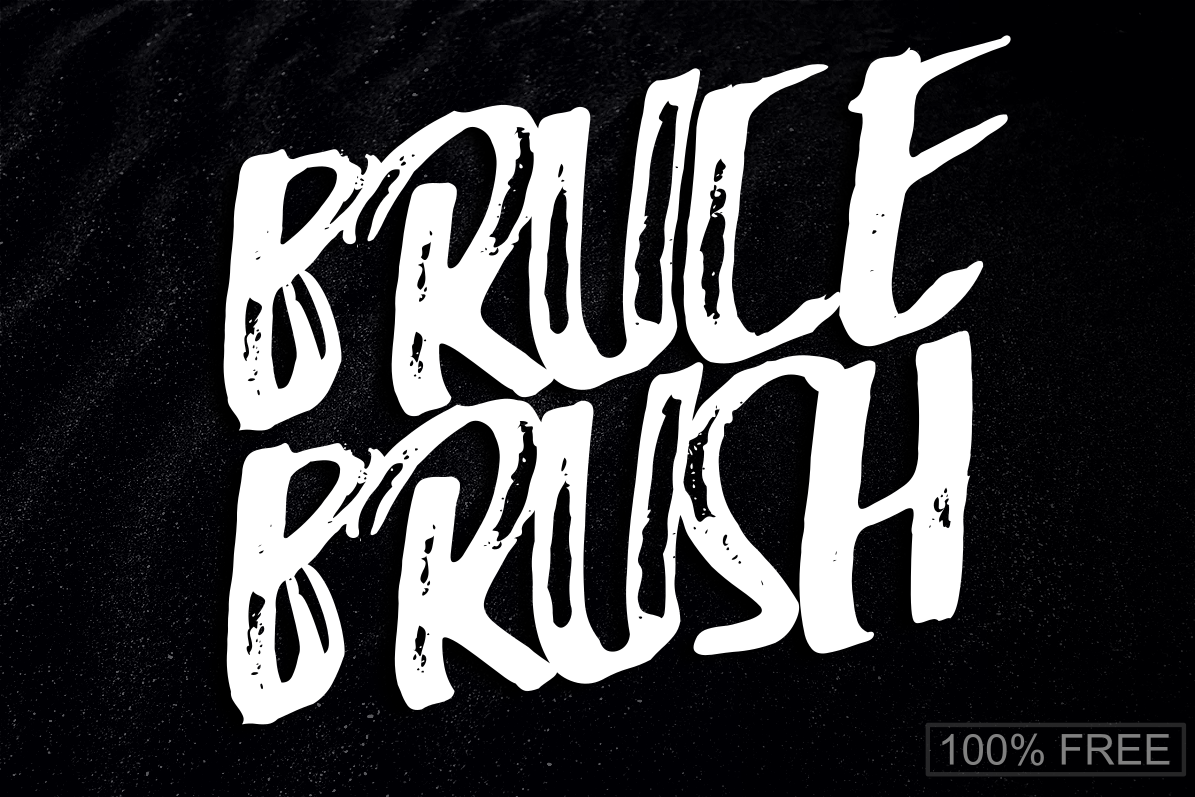 Bruce Brush Font Brush font, Font names, Fonts