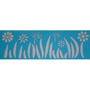 Stencil 10 x 30 Flores e Relva