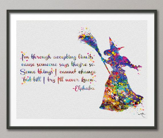 Glinda the Good Witch Watercolor Art Print Inspired From Wizard of OZ